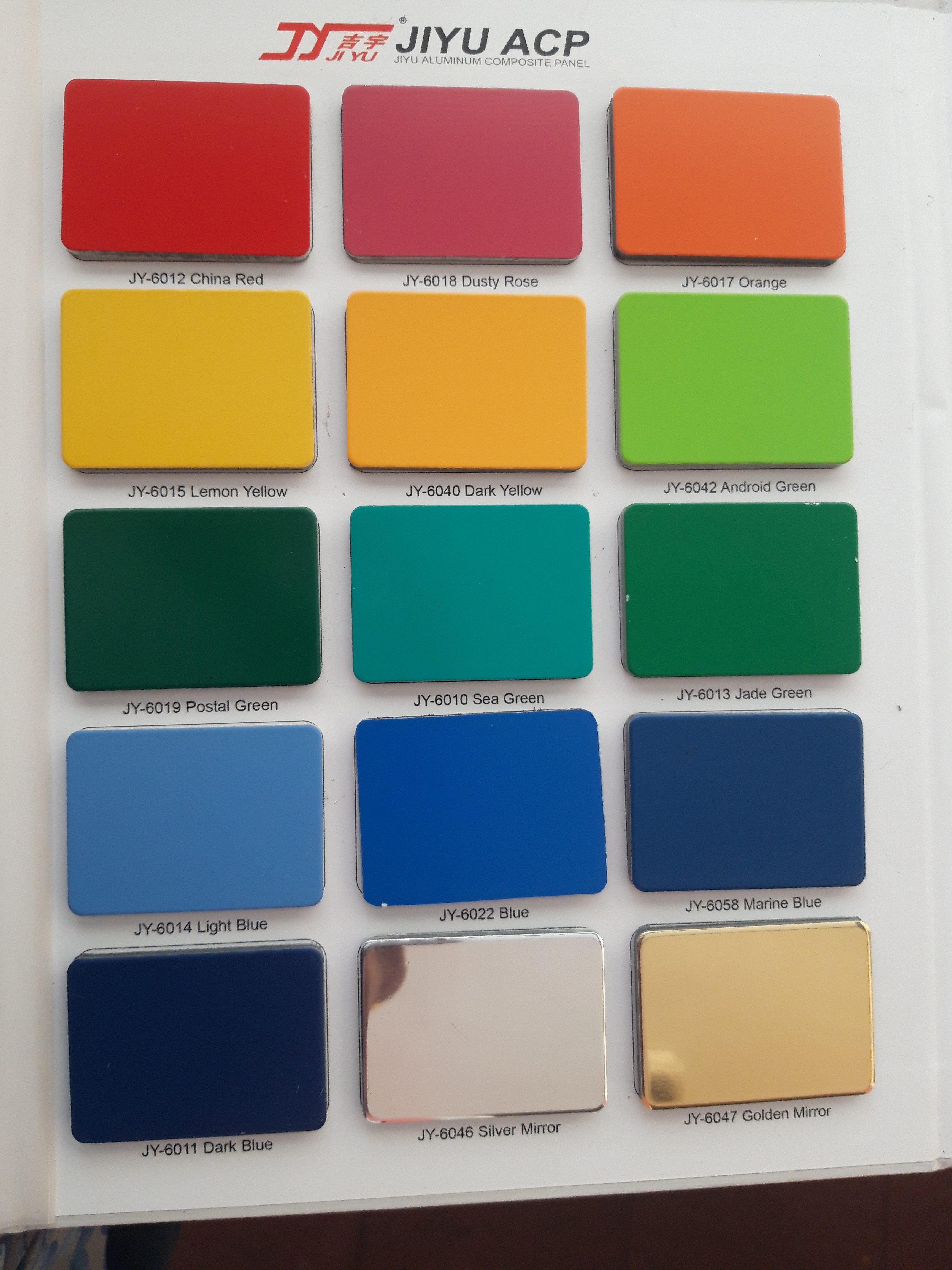 PE/Polyester 0,21 JIYU 4mm Alumunium Composite Panel